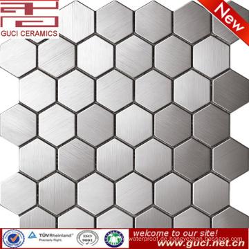 China Fabrik liefern große Hexagonal Edelstahl Mosaikfliesen