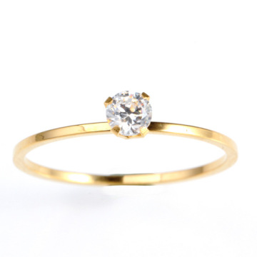 Desain berlian emas sederhana Engagement Wedding Ring