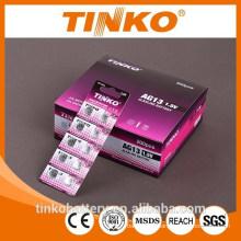 10pcs/Blister card Alkaline button battery AG3