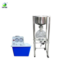 Vacuum Filter Lab With Stainless Steel Buchner Funnel With Glass Reactor Mixing Vessel