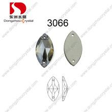 Dz-3066 Horse Eyes cose en la piedra cristalina del Rhinestone al por mayor