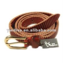 Cinturón de cuero genuino de la manera de la correa estrecha de la mujer