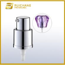 18mm aluminium cream pump with diamond overcap