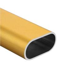 Kundenspezifisches Aluminiumrohr Aluminium-Extrusions-Ovalrohr