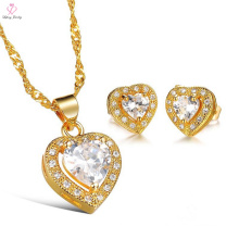 2018 Pakistani Unique Necklace & Earring Bridal Jewelry Set, Wedding Party Zircon Peacock Gold Plated Bridal Jewelry Set