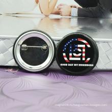 Новый Выдвиженческий значок кнопки олова с печатных логотип / олова значки металлических пластин фирменных логотипов