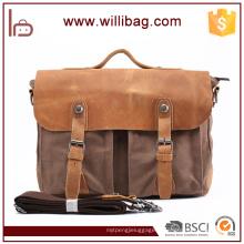 Hot vente sac à bandoulière personnalisé Satchel Vintage pour hommes sac à bandoulière en toile
