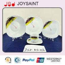 Beste Qualität Quadrat Form Keramik Porzellan Geschirr Geschirr Geschirr Geschirr Platte