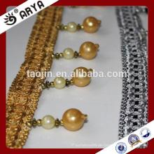 2016 Stock Produkt Ausverkauf für Sofa Vorhang Kissen der künstlichen Perlen Perlen Fransen