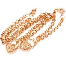 Xuping 18k ouro chapeado Cadeias Coração Jóias Set (60609)