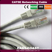 Grey Copper conductor RJ45 patch networking cable