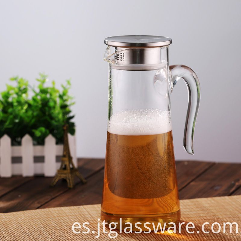 Glass Water Carafe Pitcher
