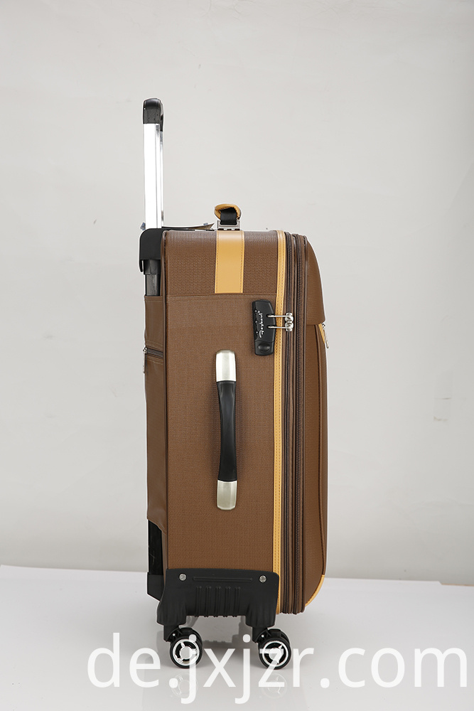 PU Leather Carry-On Spinner Luggage