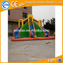 Glissière gonflable extérieure gonflable, toboggan glaciaire gonflable géant pour adulte, toboggan gonflable en PVC