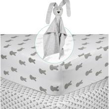 logotipo privado do tamanho do bebê do soft-fit da folha do algodão para a folha cabida dos meninos & das meninas do bebê