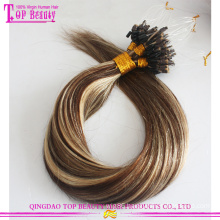 2016 Best Selling No Shedding Tangle Free Wholesale Price 100% Remy Brazilian Ombre Micro Ring Loop Hair Extensions