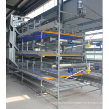 Poultry Equipment H Type Bird Breeding Cage for Layer Chicken Farm
