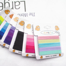 20 peças de cartão embalado cores misturadas sem costura elásticos hairbands (je1502-1)