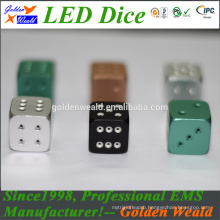 MCU control colorful LED aluminium alloy dice