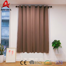 Hot sale solid blackout window curtain for living room and hotel