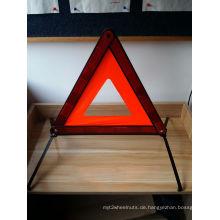 Fahrbahn Sicherheit Rot Weiß Kunststoff Notfall Warnung Dreieck Stand