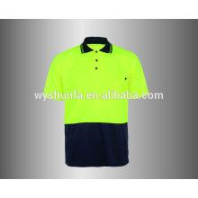 Hi Viz Shirt Safety T-Shirt with chest pocket
