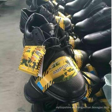 Precio bajo Calzado de trabajo de trabajo Calzado de seguridad de cuero