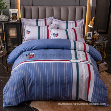 Made in China Modern Design Bedding Cotton Fabric Comfortable for 3PCS Full Bed Sheet