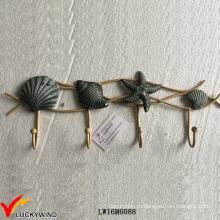 Декоративные настенные крючки ручной работы из ракушки Seashell Vintage