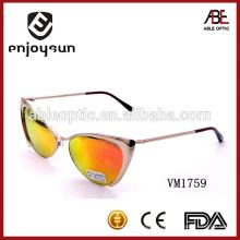 Fashion heart shape lady métal lunettes de soleil wholesale Alibaba