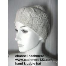 Sombrero de punto de cachemira mano Ty0916
