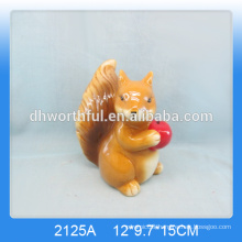 Lovely ceramic brown squirrel for home decor