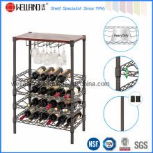 Mini ajustável Epoxy Revestido Flat Wine Rack para casa (WR603590A5E)