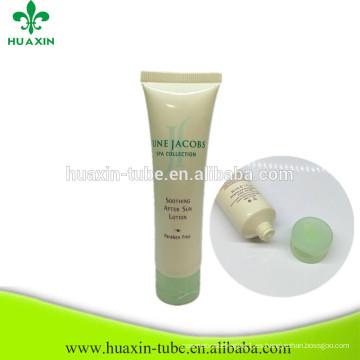 Tubo vacío plástico modificado para requisitos particulares del tubo de la loción del cuerpo 30ml para el cosmético