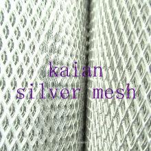 Malha metálica de prata expandida