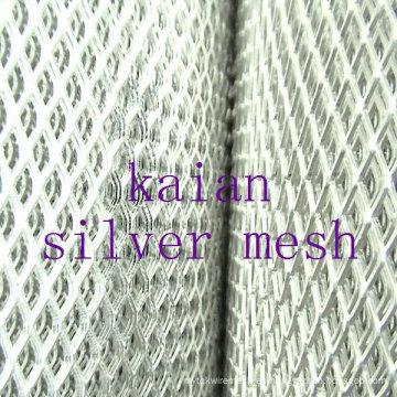 Malla de metal expandido de plata