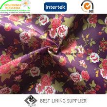 Poliéster hermoso y desgaste de la moda informal Print forro tela China Manufacturer