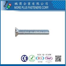 Fabricante en Taiwán DIN963 M5x16 Acero inoxidable 304 Ranura de la unidad de cabeza avellanada Tornillo de la máquina