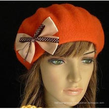 Fashion winter Bowknot Outdoor wool Hats for lady