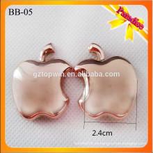 BB05 Popular botas de metal de oro hebilla forma zapato hebillas con alfiler