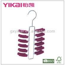 EVA foam coated metal tie hanger with 24 racks