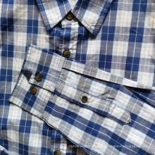 Camisa a cuadros de manga larga para hombres 100% algodón Camisas diarias
