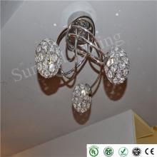 elegant crystal cover lame surface setting room led ceiling pendant light aluminum stylish design