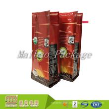 El logotipo de encargo impreso recicla el material compuesto del escudete del vacío Material de aluminio Bolsos de café 12oz con el cierre y la válvula del lazo de la lata