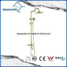 Polished Gold Brass Bath Shower Faucet (ASH9981G)