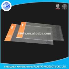 Bolsa de plástico OPP transparente con cabezal y borde a prueba de explosión