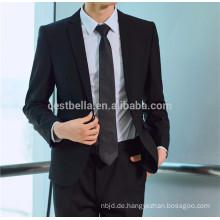 Bräutigam Tuxedos Hochwertige schwarze Anzüge Hochzeit Business Herren Anzüge Bräutigam Wear Jacket + Pants Zwei-Stücke