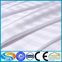 100% algodón de satén de alta calidad raya blanco lecho conjunto