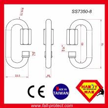 CE EN354 Carregar link rápido de aço inoxidável de 25kN