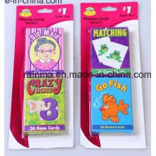 Zwei Familie Spielkarten mit Blister Card